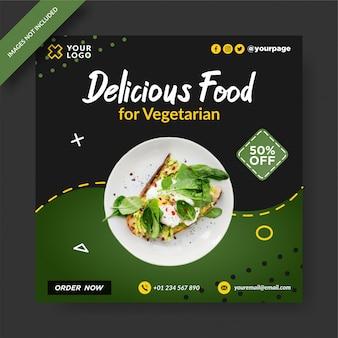 Delicious food banner instagram-bericht