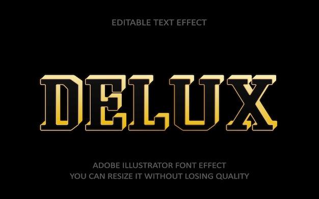 Delux bewerkbare tekst effect