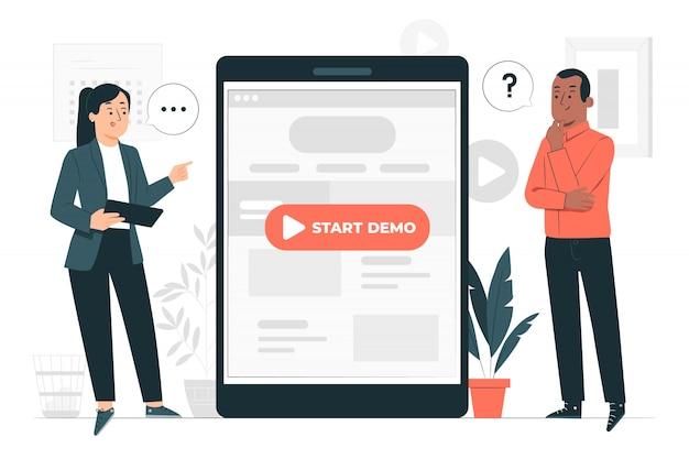 Demo concept illustratie