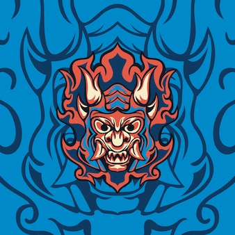 Demon blue fire voor gaming-mascotte