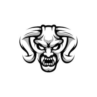 Demon design zwart en wit