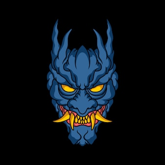 Demon gezicht illustratie