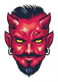 Demon hoofd illustratie