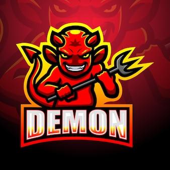 Demon mascotte esport illustratie