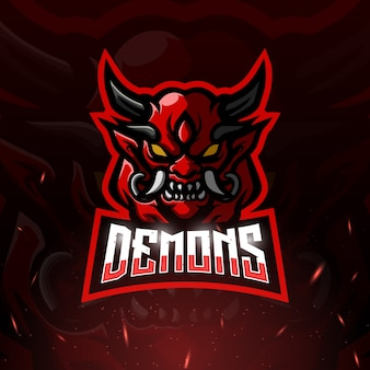 Demon mascotte esport illustratie
