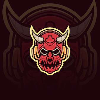 Demon mask illustratie
