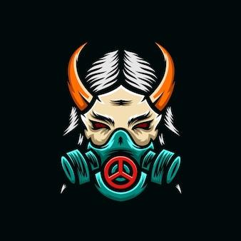 Demon masker esport logo