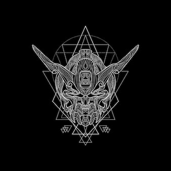 Demon robot sacred geometry style
