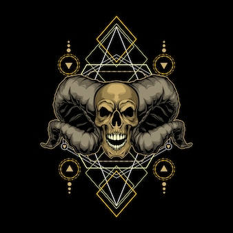 Demon schedel heilige geometrie