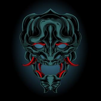 Demonenmasker uit de duisternis