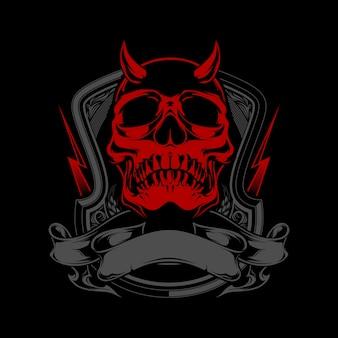 Demonische schedel