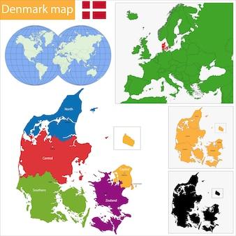 Denemarken kaart
