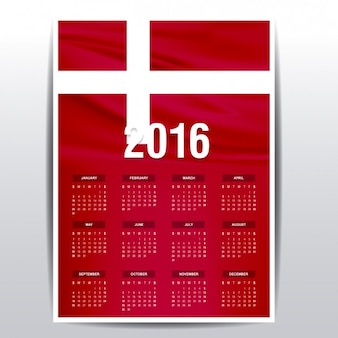 Denemarken kalender van 2016