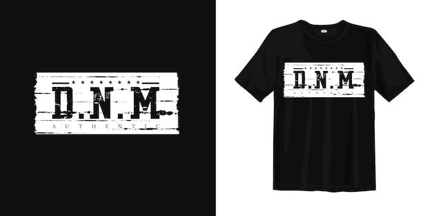 Denim authentieke t-shirt print ontwerp