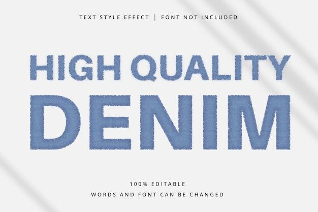 Denim bewerkbaar teksteffect