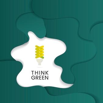 Denk aan groene milieubehoudsvector