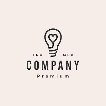 Denk liefde lamp idee hipster vintage logo