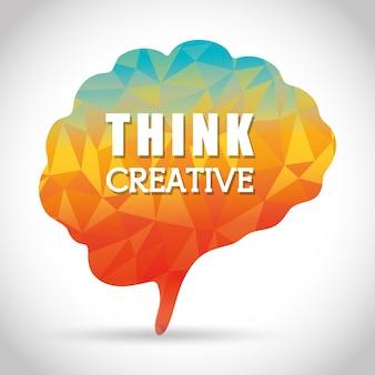 Denken concept met pictogram ontwerp