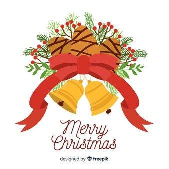 Denneappel kerstmis achtergrond