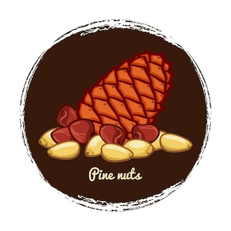 Dennenappel met noten