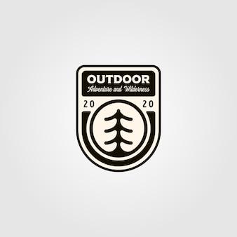 Dennenboom buiten symbool logo