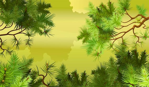 Dennenbos achtergrond