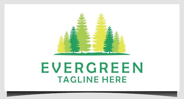 Dennenspar cederbomen logo ontwerp