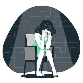 Depressie concept illustratie