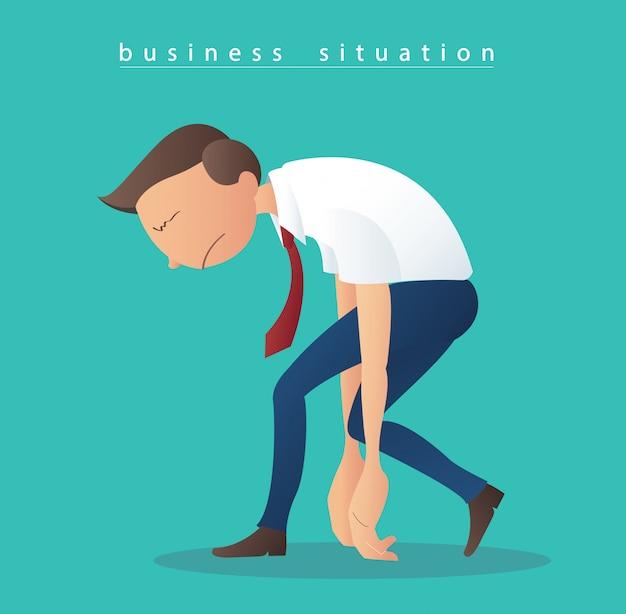 Depressie zakenlieden illustratie vector