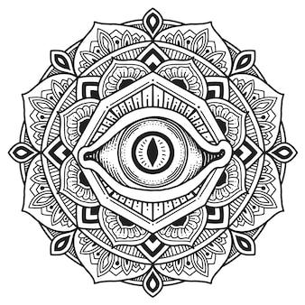 Derde oog mandala