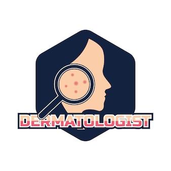 Dermatoloog logo voor dokter of kliniek