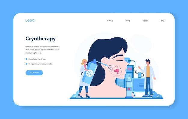 Dermatoloog webbanner of bestemmingspagina-set