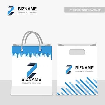 Design boodschappentassen met logo-vector