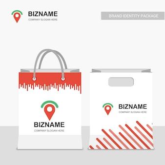 Design boodschappentassen met logo vector