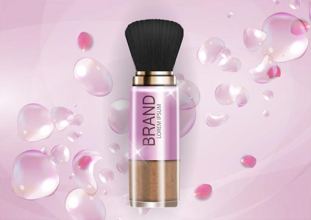 Design cosmetics productsjabloon voor advertenties