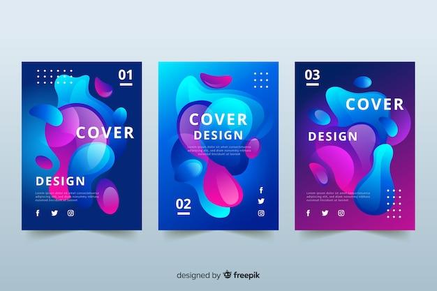Design covers met duotoon vloeibaar effect