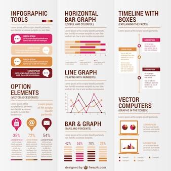 Design elementen voor infographies