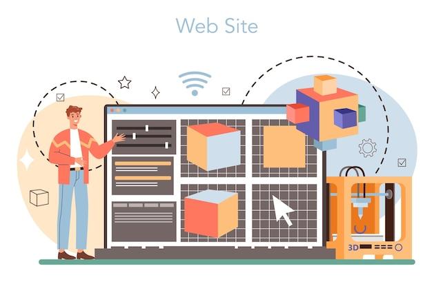 Designer 3d online service of platform
