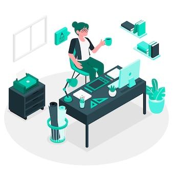 Designer leven concept illustratie
