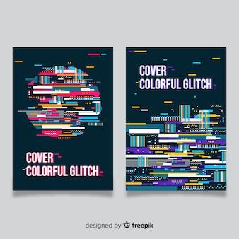Designhoes met kleurrijk glitch-effect