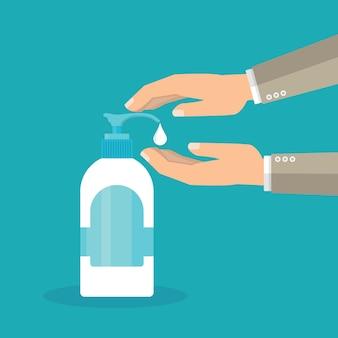 Desinfectie concept.
