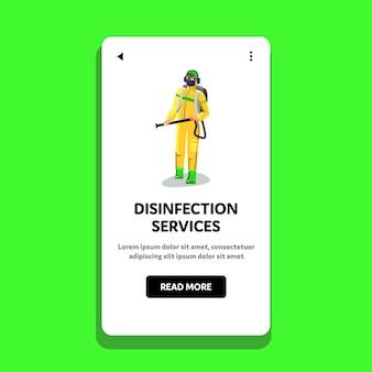 Desinfectie services werknemer desinfecteren
