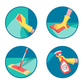 Desinfectie van oppervlakken als preventieve maatregel tegen coronavirus.