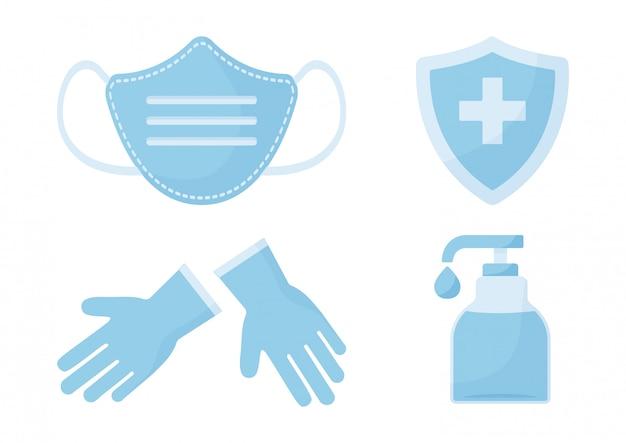 Desinfectie. viruspreventie. medische verzekering.