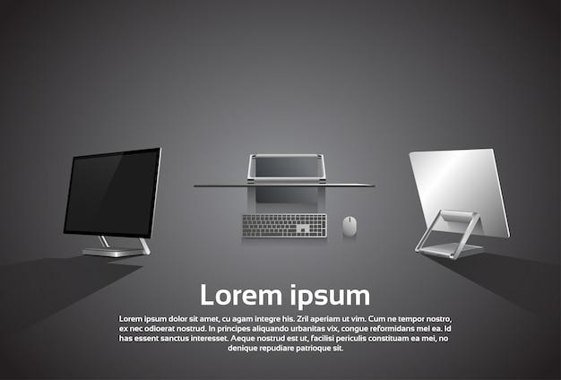 Desktop logo moderne computer werkstation pictogram