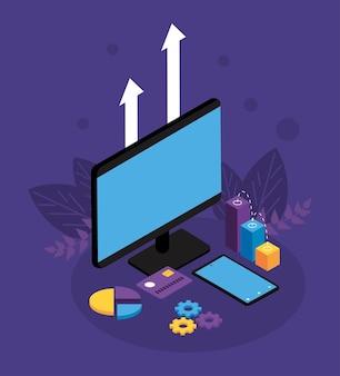 Desktop met betalingsoplossingen