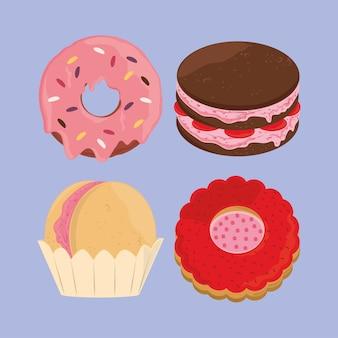 Dessert cartoon pictogrammen