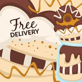 Dessert- en snoepbakkerij gratis bezorging van eten