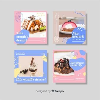 Dessert instagram postverzameling met foto