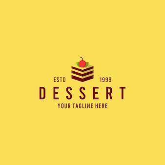 Dessert minimalistische logo-ontwerpinspiratie